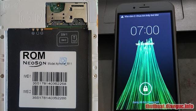Rom stock cho Neoson Aphone R11 (MT6572) flashtool ok