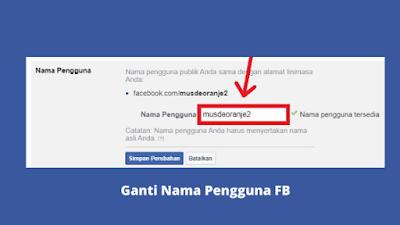 Cara Mengganti Nama Pengguna Facebook Dengan Mudah