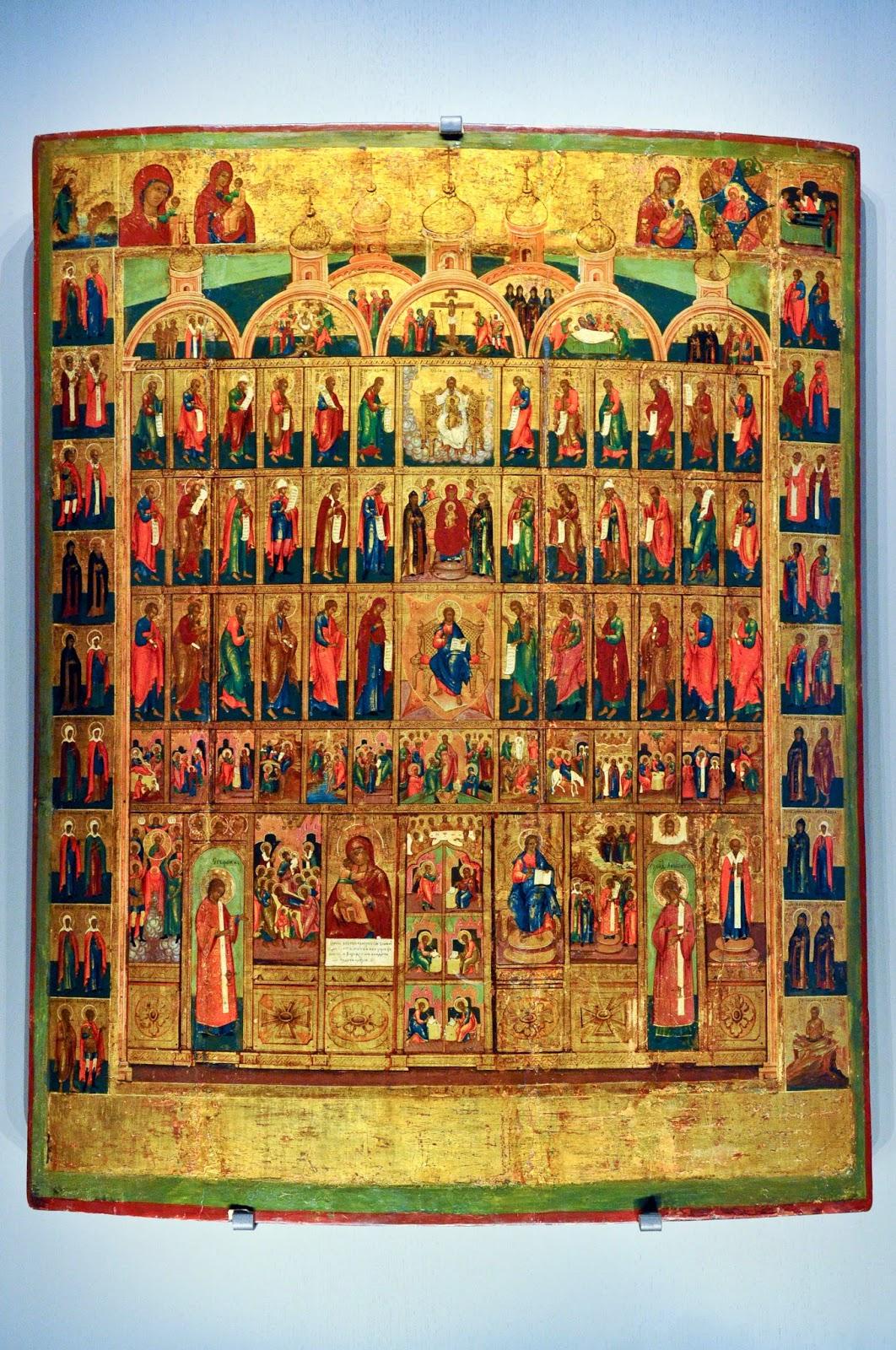 A Russian icon in Galleria d'Italia in Palazzo Leoni Montanari in Vicenza, Italy