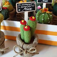 cactus crochet bomboniere comunione