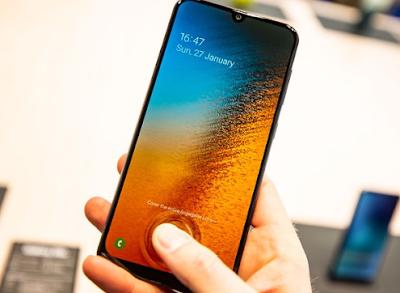 spesifikasi finger print UD Samsung Galaxy A50