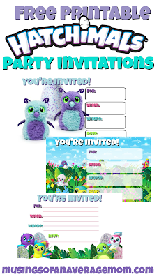 Hatchimals party invitations