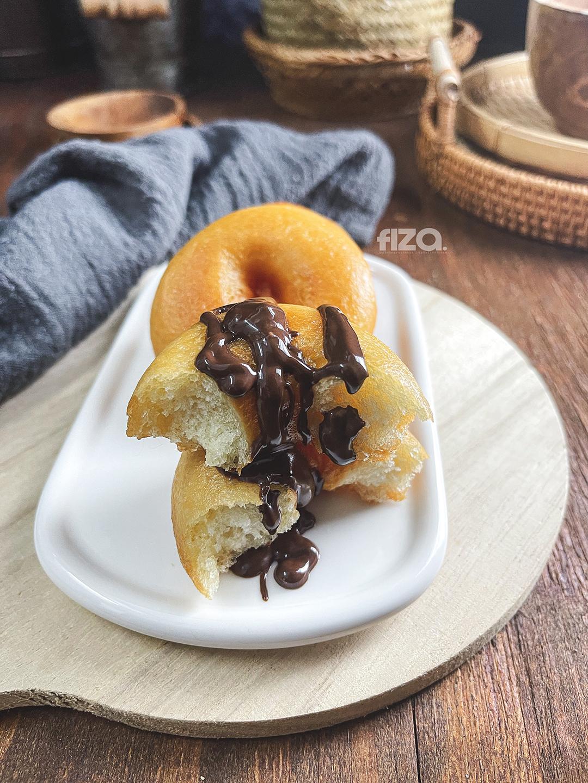 resepi donut mudah sukatan cawan