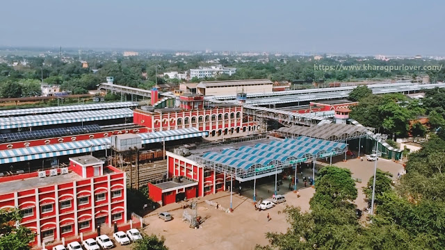Kharagpur Railway Station Drone View