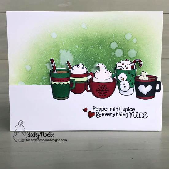 Peppermint Spice & Everything Nice by Becky features Cup of Cocoa and Frozen Friends by Newton's Nook Designs; #newtonsnook