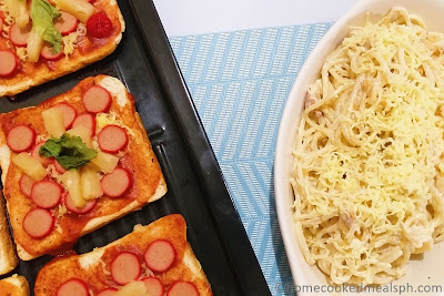 carbonara, pasta recipe, bread, homemade pizza, snack,