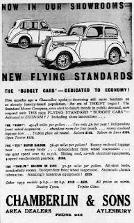 Chamberlin & Son, Aylesbury 21 October 1938 advert from Buckingham Herald