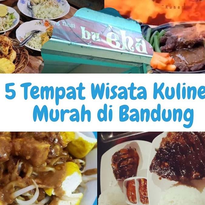 5 Tempat Wisata Kuliner Murah di Bandung