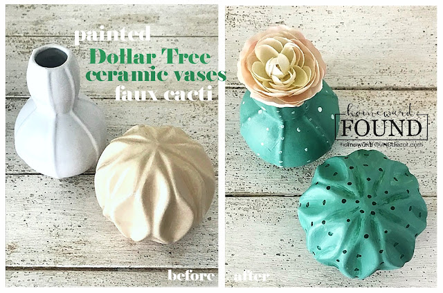 boho style, room makeover, painting, painted decor, home decor. diy decor, fall decor, summer decor, succulents, cacti, decorating with succulents, Dollar Tree crafts, faux succulents, faux cacti, boho home decor, easy home decor transformations