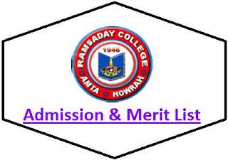 Ramsaday College Merit List