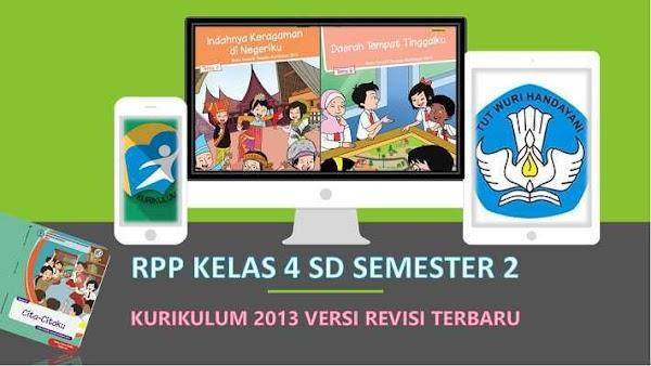 RPP Kelas 4 Semester 2 Kurikulum 2013 Revisi 2018 Tematik