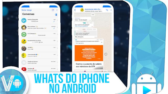 100% IGUAL! Tenha o WhatsApp do iPhone no Android [ATUALIZADO 2019]