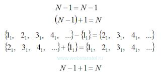 Единственное множество натуральных чисел. N+1. Плюс единица. Математика для блондинок.