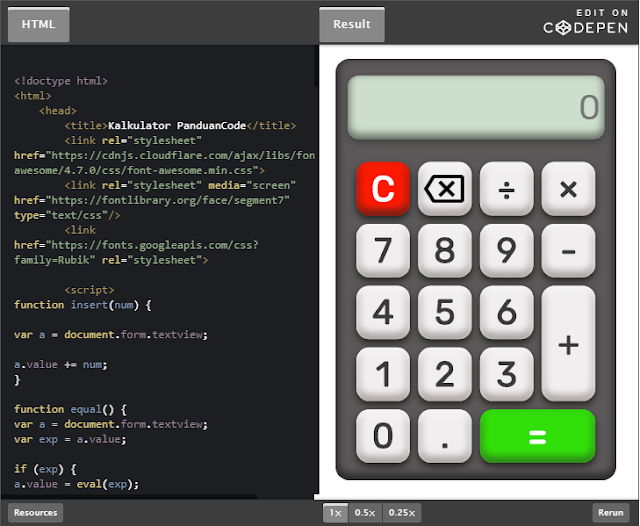 Membuat Kalkukator Sederhana Dengan HTML5 Dan JavaScript