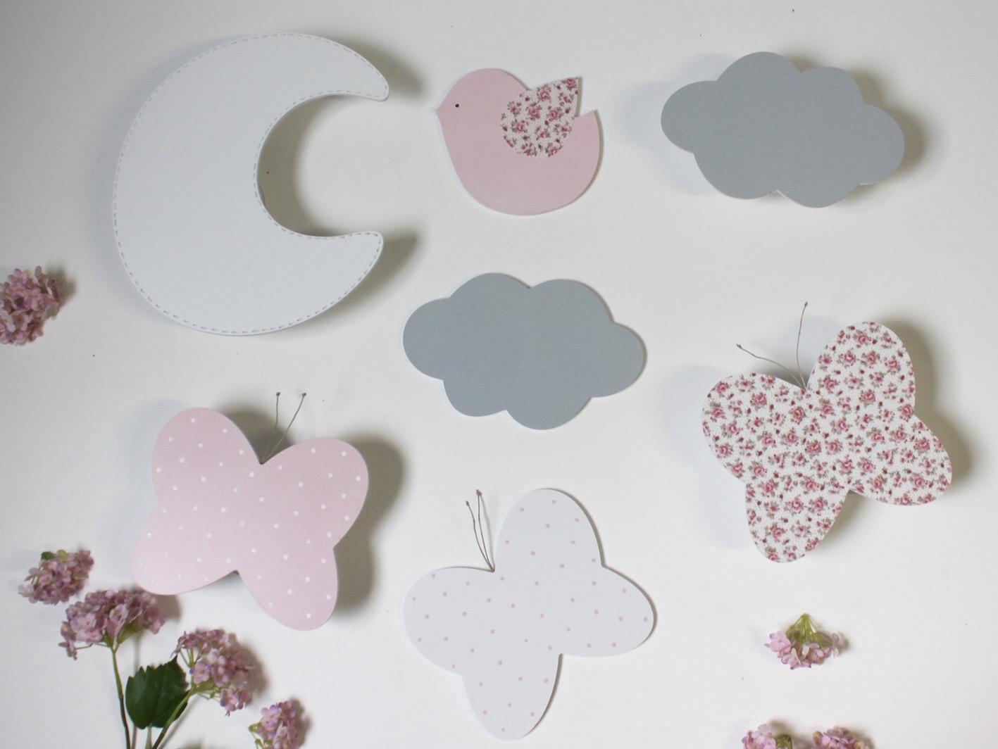 Complementos decorativos para pegar mariposas estrellas for Complementos decorativos