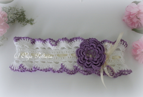 Lacy Crochet Irish Rose Baby Headbands