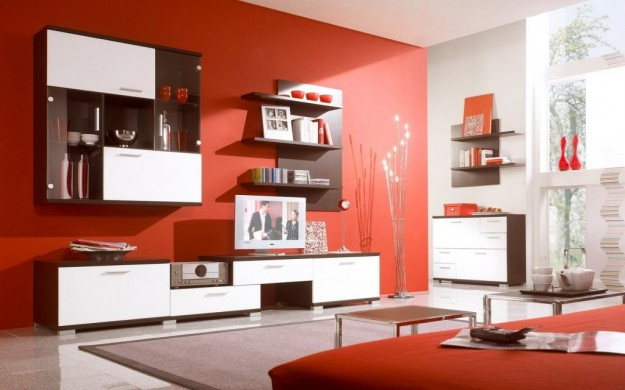 10 salas en color naranja - Colores en Casa