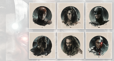 San Diego Comic-Con 2021 Exclusive Zack Snyder's Justice League Headshot Print Series by Jake Kontou x Bottleneck Gallery