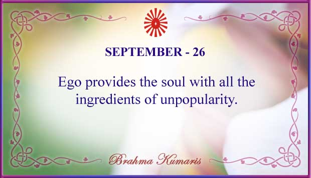 Thought For The Day September 26