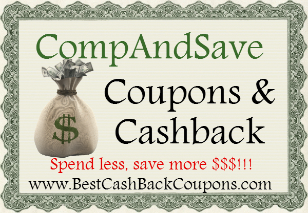 CompAndSave Cashback & Coupons 2016-2017 May, June, July, August, September, October, November, December