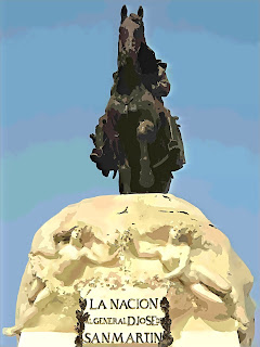 Monumento a José de San Martín, na Plaza San Martín, em Lima