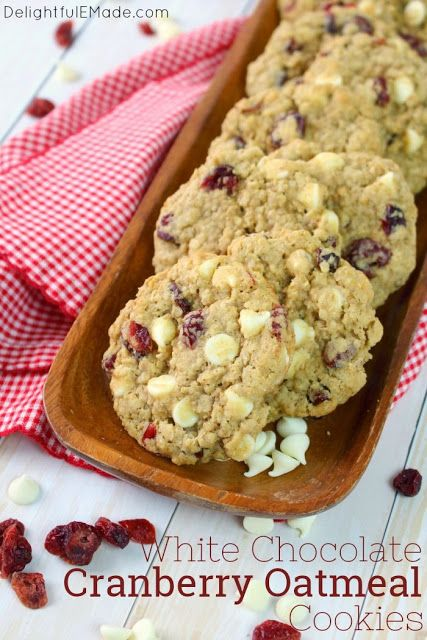 White Chocolate Chip Cranberry Oatmeal Cookie Recipe