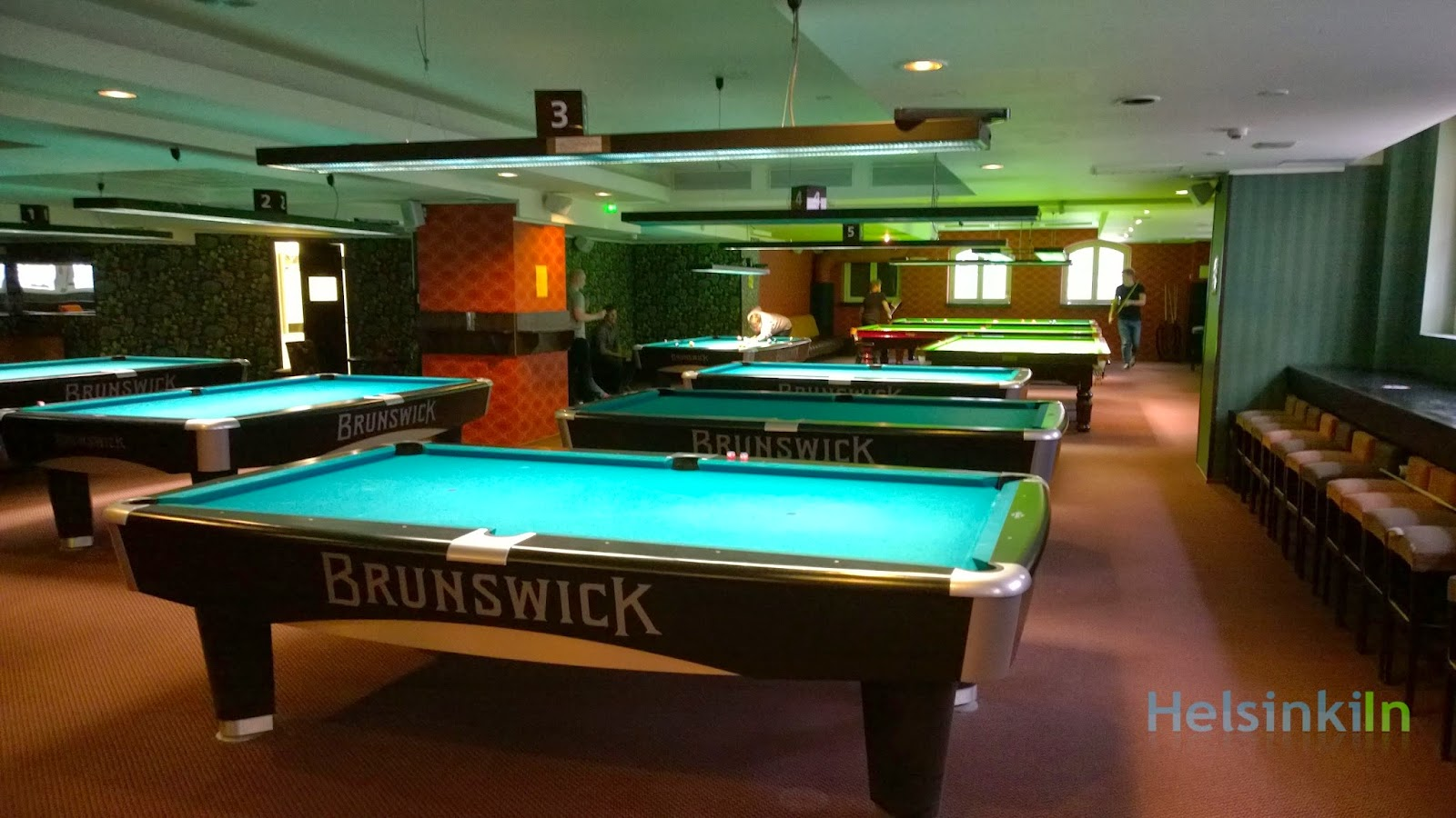 pool and snooker tables at Baribal Helsinki