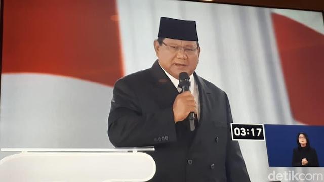 Prabowo Tepis Pro Khilafah: Saya Lahir dari Rahim Seorang Nasrani