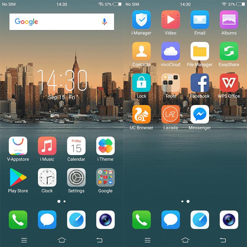 Android 7.1 Nougat w/ FunTouchOS 3.2