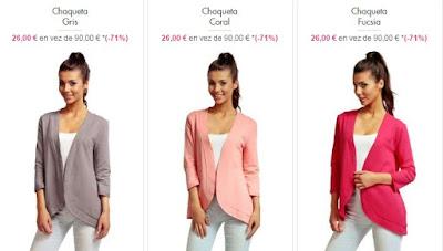 chaquetas mujer baratas