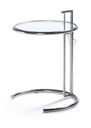 Contemporary End Table with Glass Top