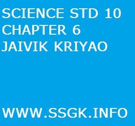 SCIENCE STD 10 CHAPTER 6 JAIVIK KRIYAO