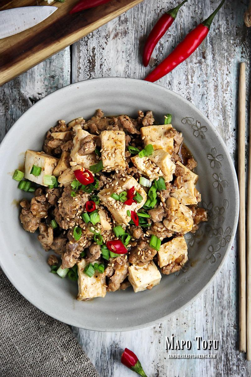 Valentine's Day Dinner Ideas - Sichuan Mapo Tofu (Má Pó Dòufu)