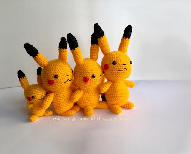 pikachu amigurumi anekka handmade