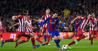 مباراة برشلونة ضد أتلتيكو مدريد في الدوري الاسباني