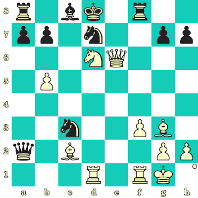 Les Blancs jouent et matent en 2 coups - Valentina Golubenko vs Kerttu Oja, Narva, 2001