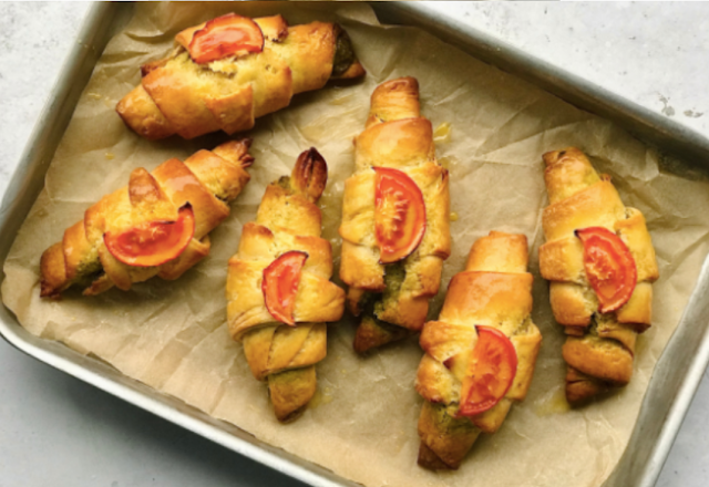 Vegan Tomato and Pesto Croissants