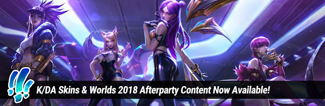 Surrender at 20: K/DA Skins & Worlds 2018 Afterparty Content Now