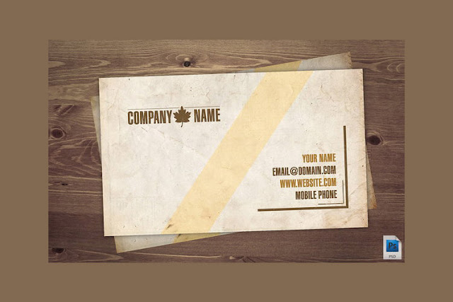 Old Vintage Business Card PSD