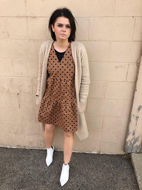 This polka dot dress again!