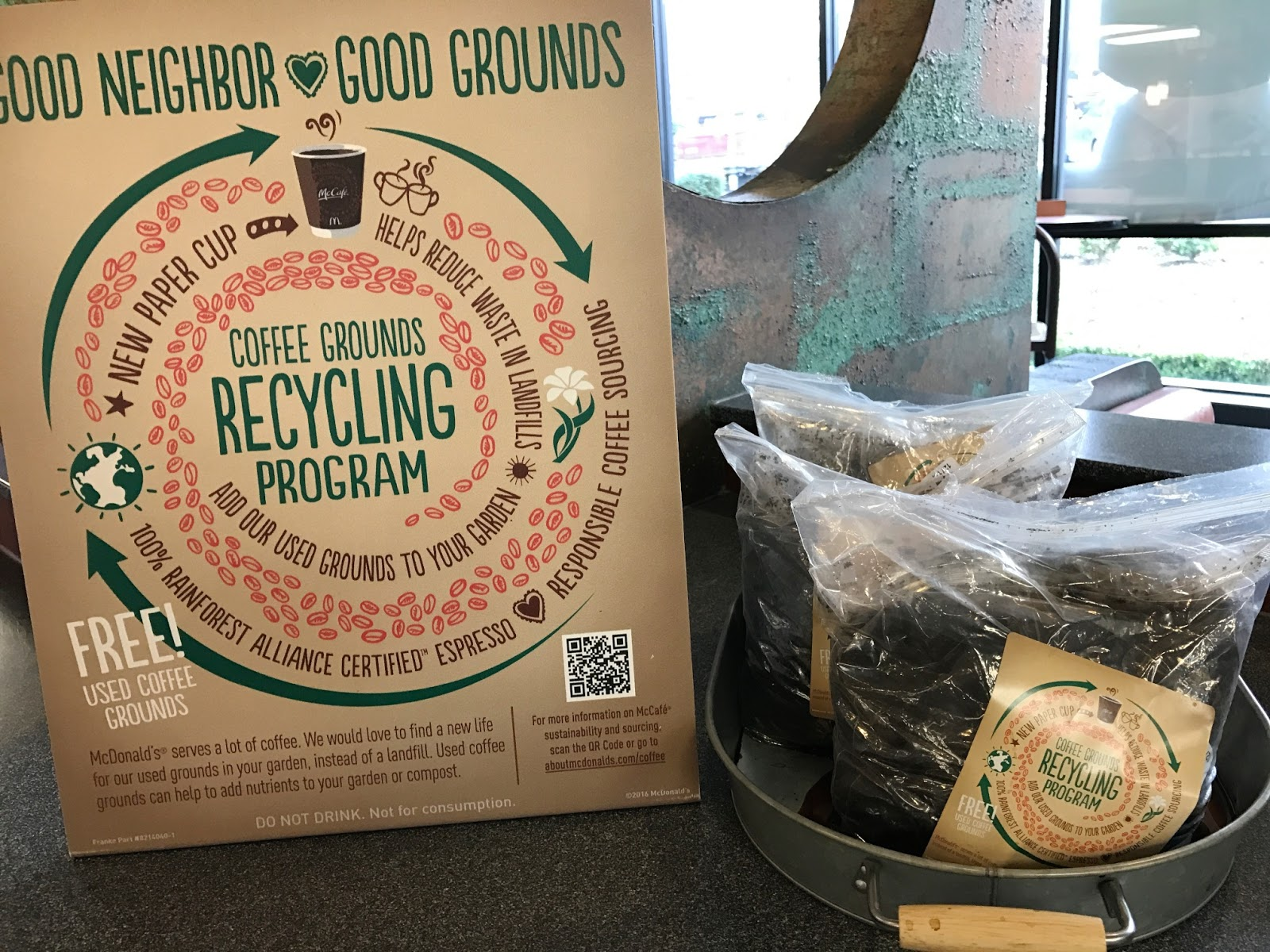 mcdonalds coffee grounds recycling