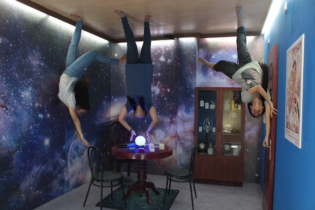 Magic room at the Upside Down World Museum