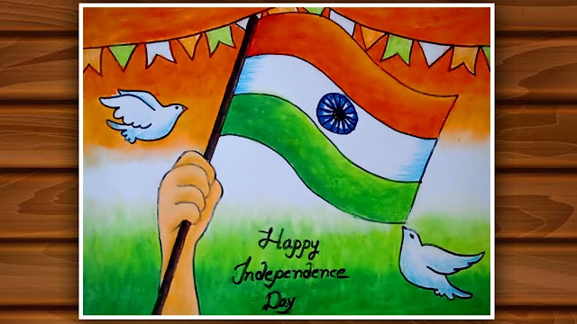 Indipendence day drawing