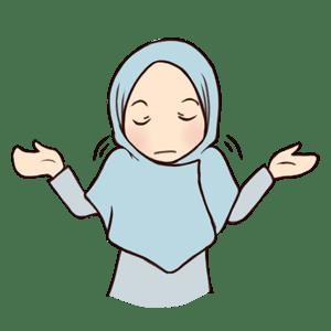 stiker muslimah