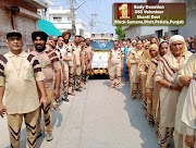 Dera Devotees pay tribute to Leela Insan who donated her body for Medical Research