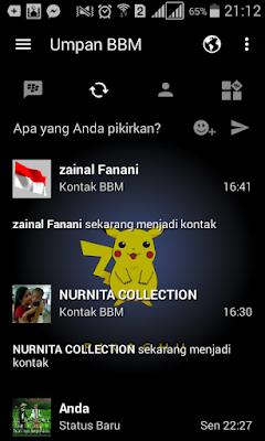 BBM Mod Pokemon Go Tema Pikachu v3.0.0.18 Apk Not Clone Terbaru