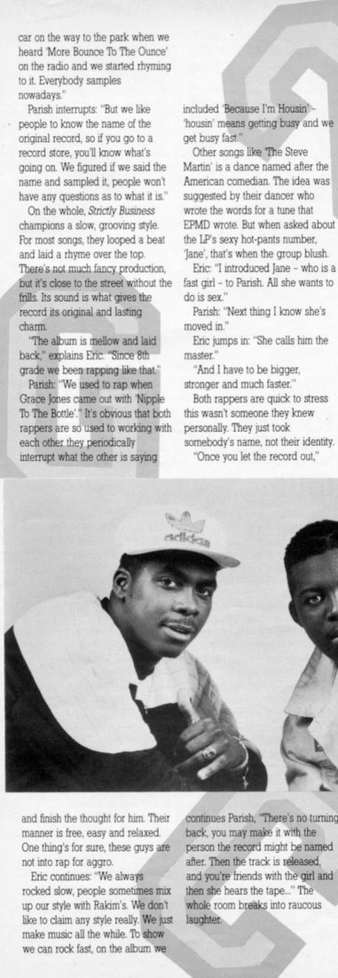 HipHop-TheGoldenEra: EPMD in Hip Hop Connection Magazine - 1988