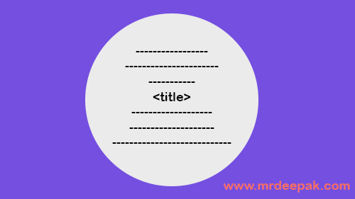 Title Tag in html