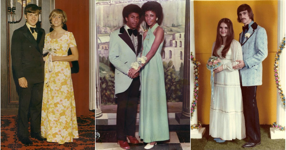 70s Prom Couples ~ vintage everyday
