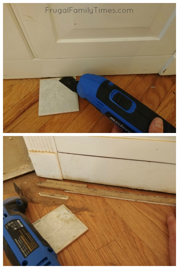 installing flooring under built ins